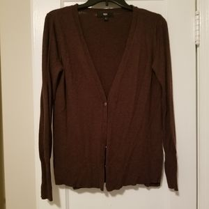 Mossimo brown button sweater